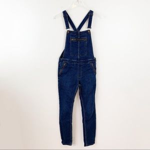 Free People Zippered Skinny Overalls